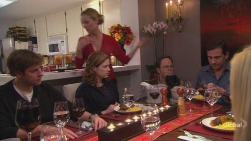 Jim in रात का खाना Party