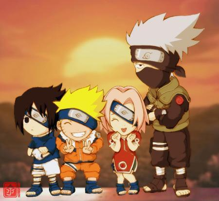 Kakashi and Team 7 / Chibi