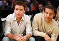 Kevin Connolly and Tobey Maguire take in the Lakers vs Jazz game May 4, 2008