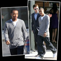 Kevin Connolly and Bow Wow take a walk   -   April 29, 2008 - kevin-connolly photo