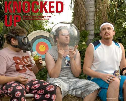 Jason Segel پیپر وال possibly containing a سٹریٹ, گلی and a park bench titled Knocked Up