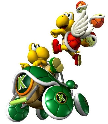 Mario Kart 바탕화면 possibly containing an easter egg titled Koopa Troopa and Paratroopa