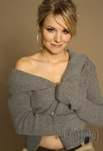 Veronica Mars achtergrond containing a cardigan, vest entitled Kristen klok, bell