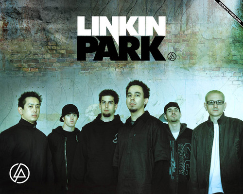 linkin park wallpaper possibly with a sign and a rua titled LP