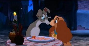 Famous Kisses wallpaper entitled Lady and the Tramp