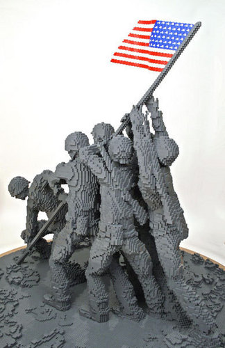 Lego Iwo Jima Memorial - lego Photo