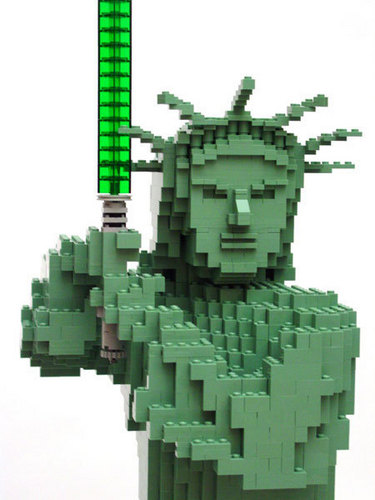 Lego Statue of Liberty Jedi