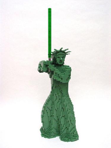 Lego Statue of Liberty Jedi