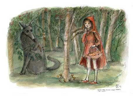 Fairy Tales & Fables fond d'écran titled Little Red Riding capuche, hotte