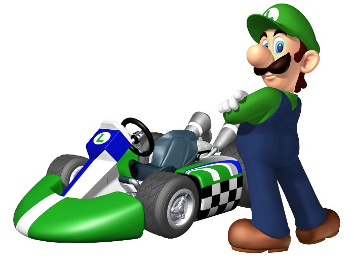 Luigi in Mario Kart Wii