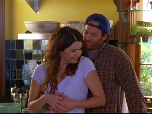 Pasangan TV kertas dinding with a brasserie entitled Luke & Lorelai (Gilmore Girls)