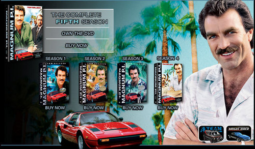 botella doble, magnum P.I. Seasons