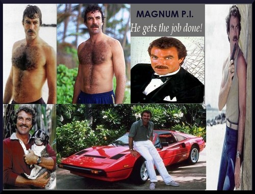 Television wallpaper titled Magnum P.I.