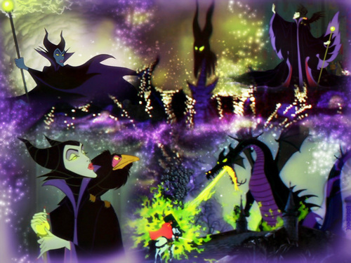 Disney Villains achtergrond containing a foxglove entitled Maleficent achtergrond