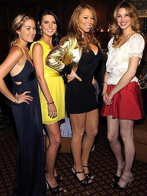 Mariah Carey and Hills Cast