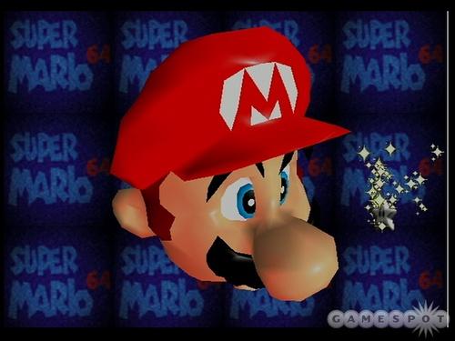 Super Mario Hintergrund called Mario Face Distortion