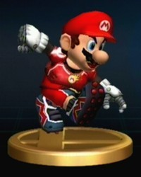 Super Smash Bros. Brawl দেওয়ালপত্র entitled Mario Series Trophies