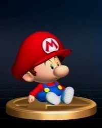 Super Smash Bros. Brawl karatasi la kupamba ukuta entitled Mario Series Trophies