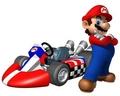 Mario in Mario Kart Wii