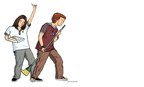 Empire Records wallpaper called Mark & Eddie