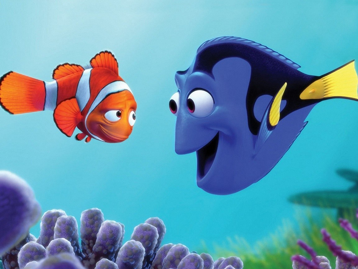 Marlin and Dory - finding-nemo wallpaper