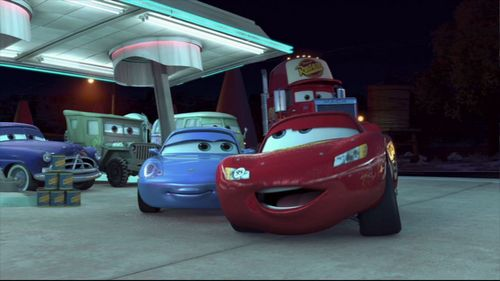 Pixar fond d'écran probably with an automobile called Mater and the Ghostlight