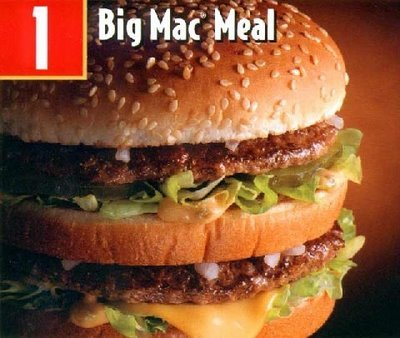 McDonald's দেওয়ালপত্র with a big mac called McDonalds