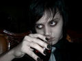 Me, drinking blood - vampires photo