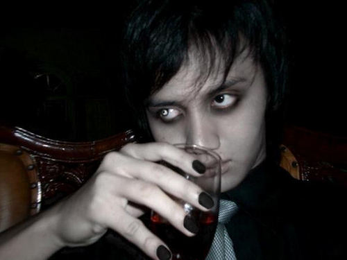 Me, drinking blood