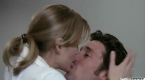 Famous Kisses wallpaper with a portrait entitled Meredith & Derek