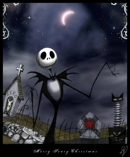 Nightmare Before Christmas wallpaper called Merry Scary Christmas
