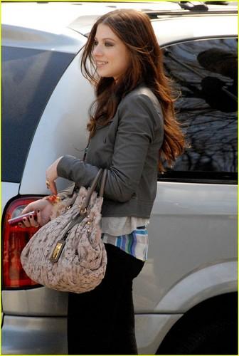 Michelle On Set