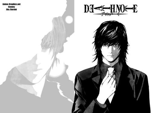 death note wallpaper titled Mikami