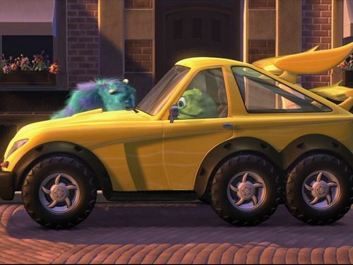 Pixar wallpaper titled Mike's New Car