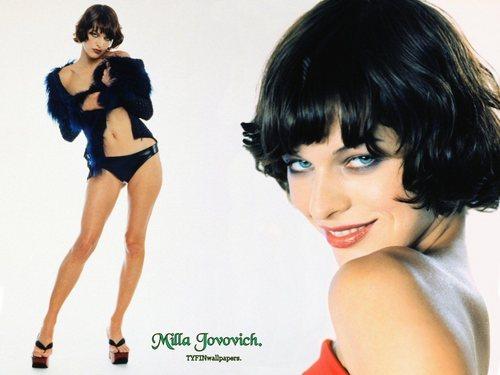 Milla Jovovich karatasi la kupamba ukuta titled Milla