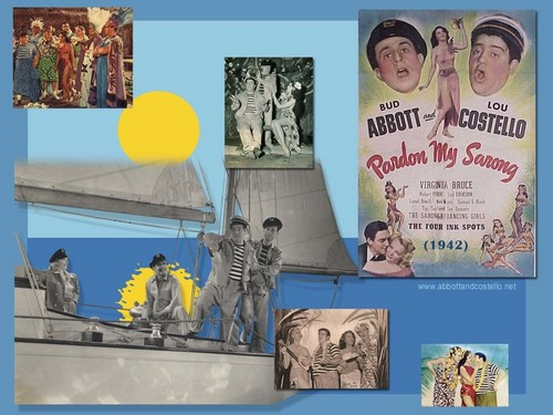 Abbott & Costello wallpaper probably containing a meteorological balloon entitled Pardon My Sarong