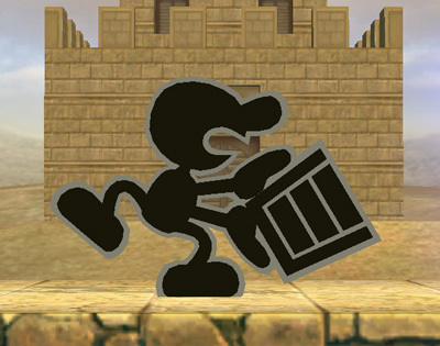 Super Smash Bros. Brawl 바탕화면 containing a school, a brownstone, and a 거리 entitled Mr. Game & Watch