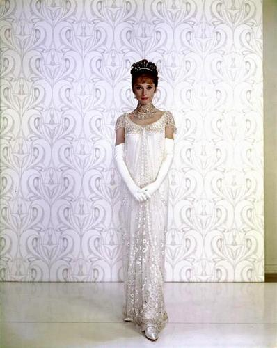 Audrey Hepburn wallpaper containing a nightgown and a negligee entitled My Fair Lady