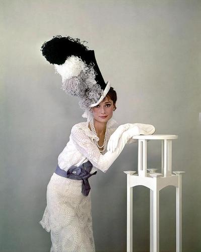 Audrey Hepburn wallpaper probably containing a lectern, a bathrobe, and a boater titled My Fair Lady