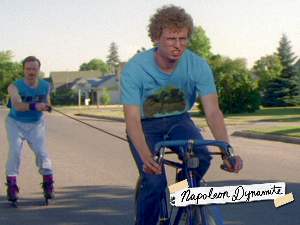 napoleon dynamite From the rural town of preston, idaho, comes napoleon dynamite (jon heder) with a red 'fro, his moon boots, and illegal government ninja moves, he is a new kind of hero.