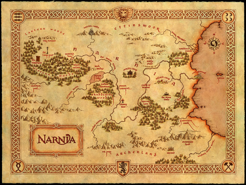 the chronicles of narnia wallpaper titled Narnia Map