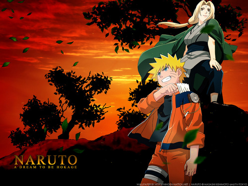 Naruto hình nền entitled Naruto and Tsunade