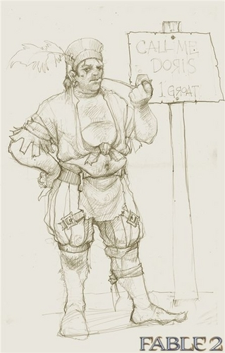 "Fable 2 concept art ""Another male NPC"""