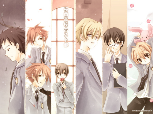Ouran High School Host Club kertas dinding titled OHSHC