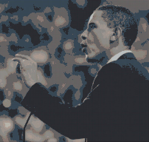 Obama モザイク Tile Mural
