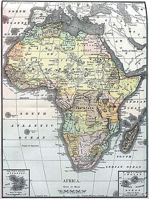 Old Africa Map