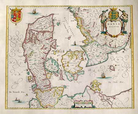 Old Denmark map