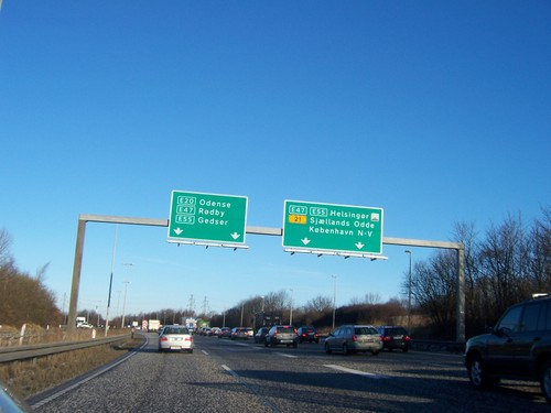 Denmark Road Sign