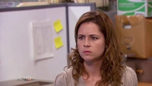 The Office wallpaper possibly containing a portrait called Pam