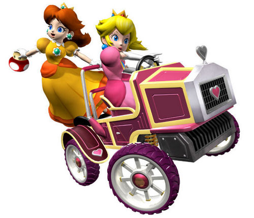 Peach and Daisy - mario-kart Photo
